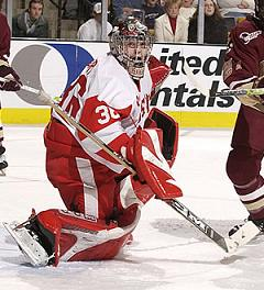 BU goalie John Curry was outstanding in the Hockey East tournament final