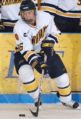 Merrimack freshman J.C. Robitaille lead the team in power-play goals this season. (photo: Gil Talbot, Talbot Photography)