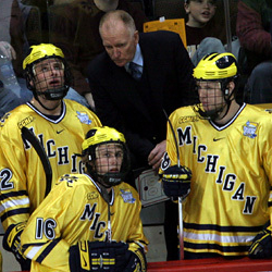 Red Berenson has won two national titles as coach.