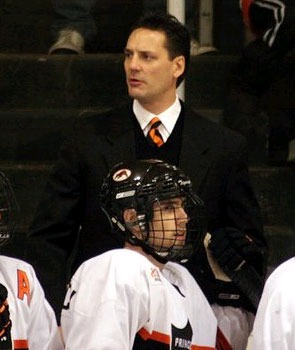 Princeton coach Guy Gadowsky has seen improvement each season in his four-year tenure. (photo: Paige Ozaroski)