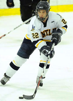 Anthony Canzoneri centers the team\'s top line, and leads the team in assists.