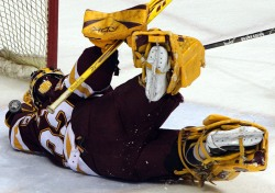 Alex Stalock has led UMD to the WCHA final.