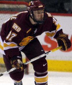 Justin Fontaine was named Second Team All-WCHA earlier in the day.