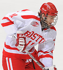 Zach Cohen has helped lead a second-half comeback by Boston University.