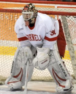 Ben Scrivens leads Cornell into the playoffs, trying to secure an NCAA bid. (photo: Mark H. Anbinder)