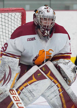 Taylor Nelson has edged his way into the No. 1 goaltender spot for now, with a stellar season so far.