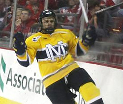Stephane Da Costa has won all five Hockey East Rookie of the Month awards this season.