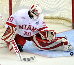 Miami goalie Cody Reichard, and his team, have picked up where they left off last season.