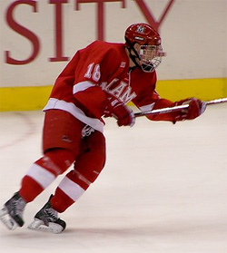 Freshman Reilly Smith has eight goals and 20 points in playing all 43 games for Miami this season.