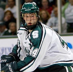 MSU's Torey Krug was named to the CCHA All-Rookie Team. Now he'll try to help the Spartans to the NCAAs.