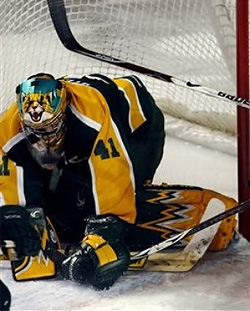 6-foot-4 Northern Michigan senior goalie Brian Stewart shook off a slow start to lead his team to the NCAAs.