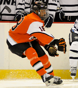 Now a senior, Cameron Burt is one of the holdovers remaining from RIT\'s Frozen Four team in 2010. (photo: Brad Pettengill)