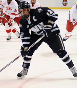 Bobby Butler broke out with a pair of goals in New Hampshire\'s win. (photo: Brad Pettengill)