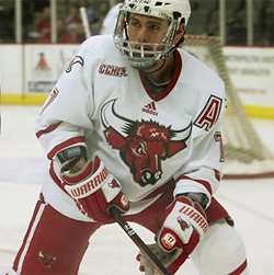 Nebraska-Omaha's Eddie Del Grosso was the team's leading scorer this season as a defenseman.