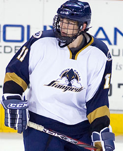 Matt Lindblad, playing last season for Sioux Falls of the USHL.
