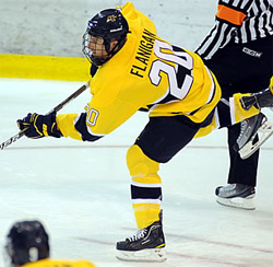 Ryan Flanigan has gone from grinder to goal scorer for Merrimack.