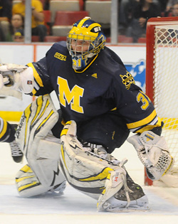 Senior goalie Shawn Hunwick has helped carry Michigan lately.