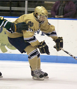 Notre Dame\'s T.J. Tynan was the CCHA\'s Rookie of the Year.