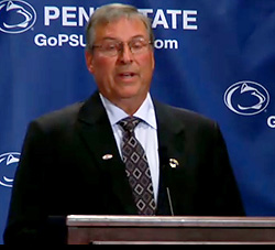 Terry Pegula, at the announcement of his $88 million gift that will help kick start the Penn State hockey program.