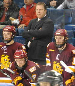 Scott Sandelin has guided a steady ship behind the Bulldogs bench.