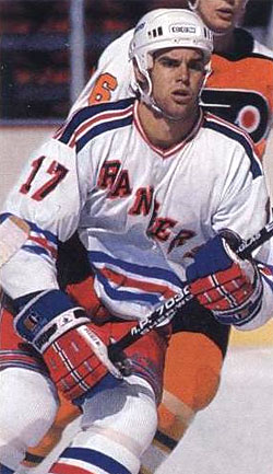 Rick Bennett in his NHL playing days.
