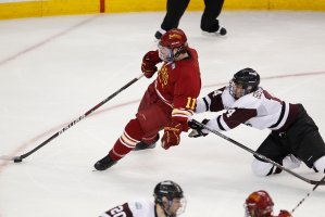 Ferris State senior forward Jordie Johnston will play the final game of his college career in Saturday\'s national title game (Joe Koshollek)