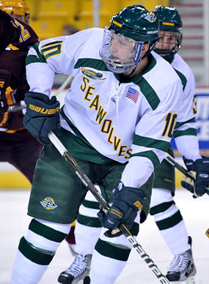 Mickey Spencer got off to a hot start with 5 goals, including a hat trick against St. Cloud.