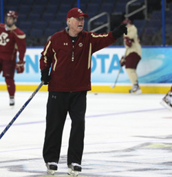 BC coach Jerry York has his team pointed in the right direction at the right time. (photo: Neil Ament)