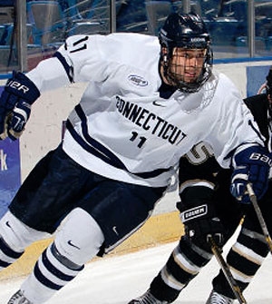 Connecticut forward Miles Winter is a transfer from Quinnipiac.