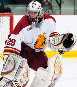 Taylor Nelson was First Team All-CCHA this season. (photo: Ferris State Athletics)