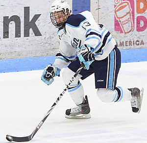 Spencer Abbott anchors a strong first line, but Maine needs more scoring from elsewhere.