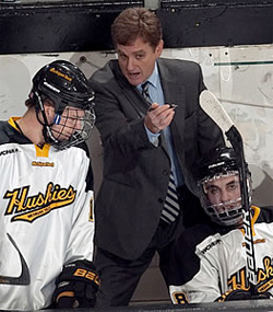 First-year coach Mel Pearson has helped guide the Huskies to its best season in years.