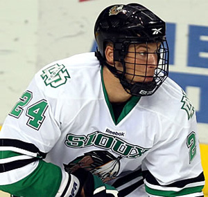 North Dakota captain Ben Blood