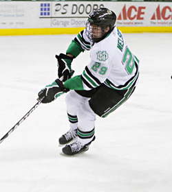 North Dakota\'s Brock Nelson had a strong second half. (photo: Kory Wallen/UND Sports)