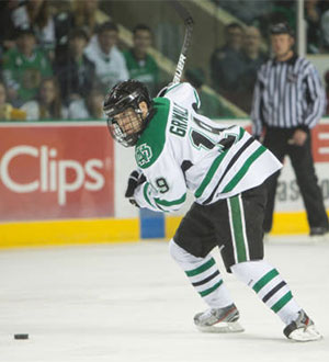 After missing out on most of last season, North Dakota\'s Rocco Grimaldi is ready for a chance on college hockey\'s biggest stage.