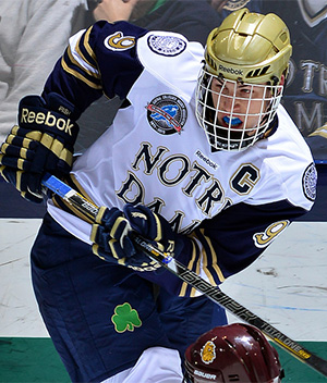 Anders Lee had the first goal for Notre Dame.