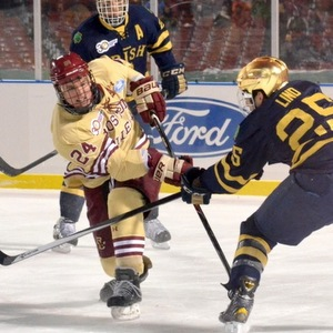 Bill Arnold scored in BC\'s win over Notre Dame.  (photo: Bryan Lipiner)