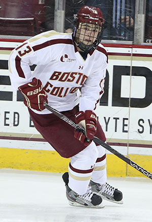Johnny Gaudreau leads the nation in scoring. (photo: Jon Quackenbos)