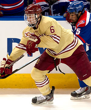 BC defenseman Steve Santini (photo: Rich Gagnon)