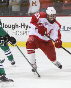 Miami\'s Blake Coleman had a hat trick in the win over North Dakota.