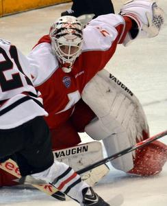 Miami\'s Ryan McKay stymied St. Cloud State.