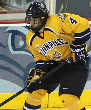 Connor Clifton is Quinnipiac\'s only freshman defenseman to play in every game this season.