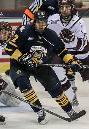 Quinnipiac forward Bryce van Brabant has 15 goals this season. (photo: Robert Dungan)