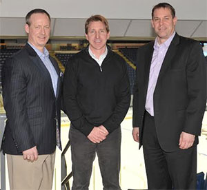 From left: Kevin Sneddon, Nate Leaman and Rick Bennett, the last three Union head coaches. (photo: Trent Hermann/Carlyn Studios)