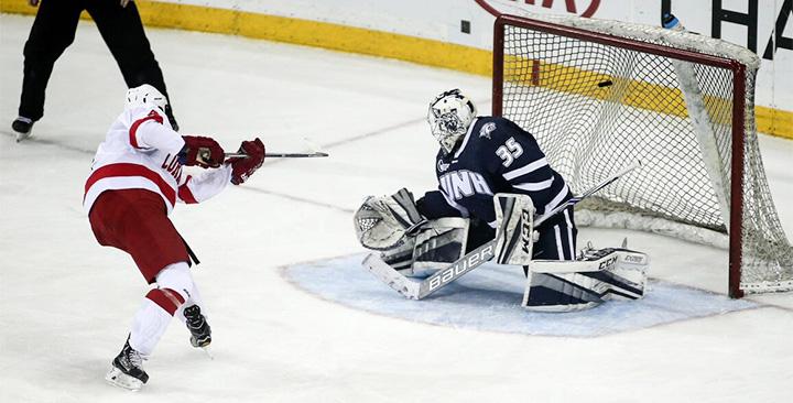 NCAA: Cornell Vs UNH At MSG - Net Rauter