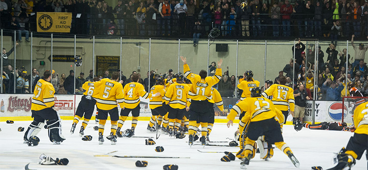 Michigan Tech Brings House Down In 2 Ot Thriller College