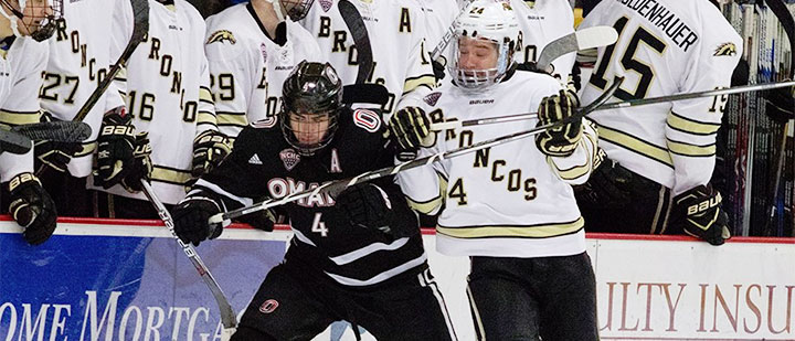 NCHC: Rebry's Early OT Goal Sends WMU To Conference Semifinals