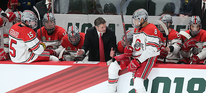 the best attitude 67ae2 4212b Ohio State Wasn't Happy to be Here : College Hockey News