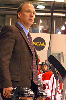 St. Cloud State coach Bob Motzko has some work to do after a tough weekend in New Hampshire.