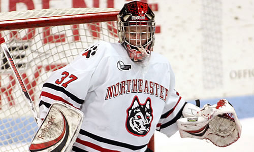 Northeastern\'s Chris Rawlings is 6-0-0 with a 1.28 goals-against average and .958 save percentage in his last six games.